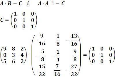 condiciones que debe cumplir una matriz inversa para ser inversa