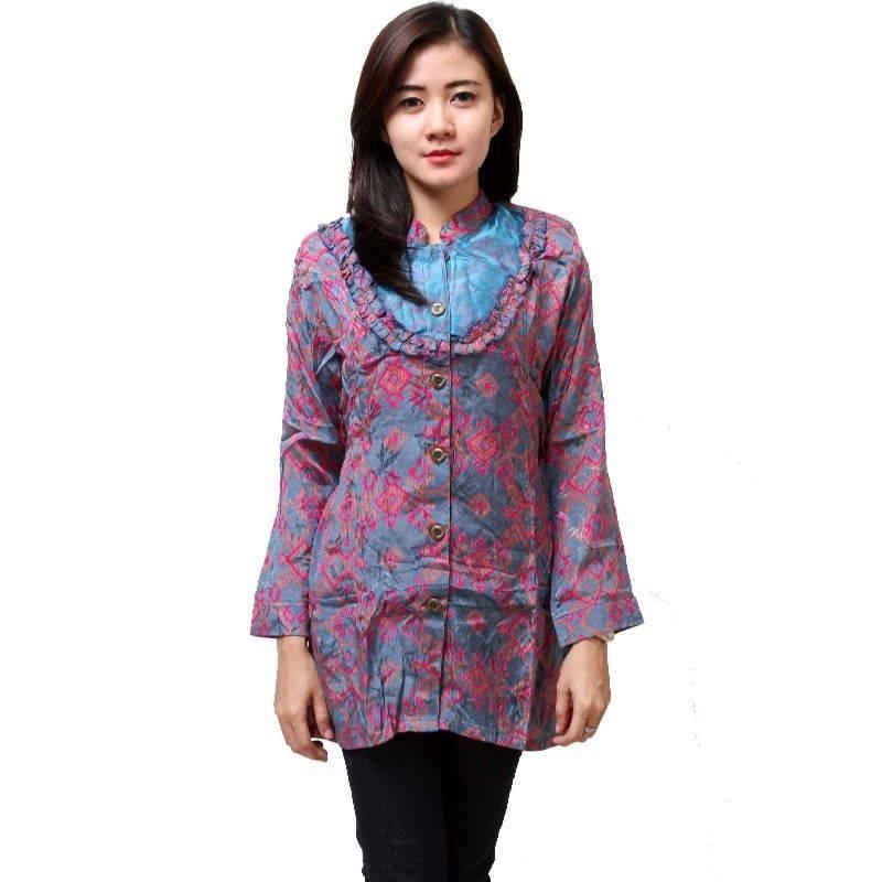 10 Model Baju Batik Kantor Wanita Terbaru Desain Kekinian ...