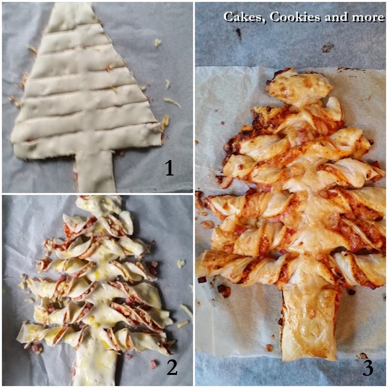 Pizza Tannenbaum.Pizza Weihnachtsbaum Mit Blätterteig Cakes Cookies And More