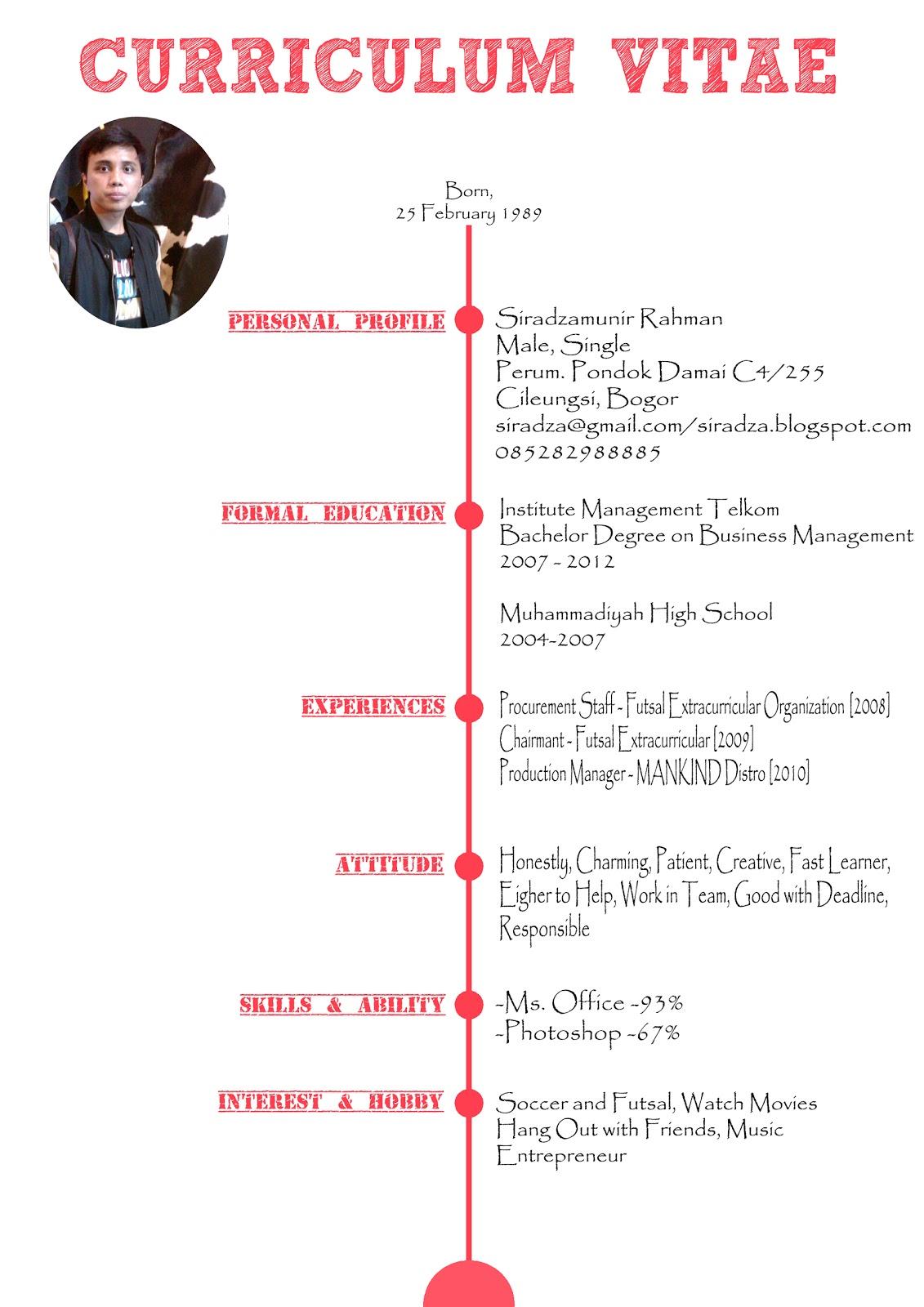 Template Cv Keren Sample Resume Service