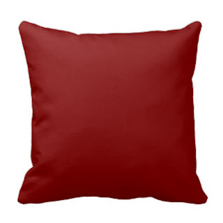 Maroon throw pillow