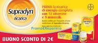 Logo Buono sconto e concorso Supradyn e vinci 1.000 card Mondadori