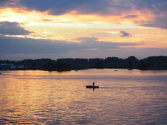 Иркутск, закат на Ангаре