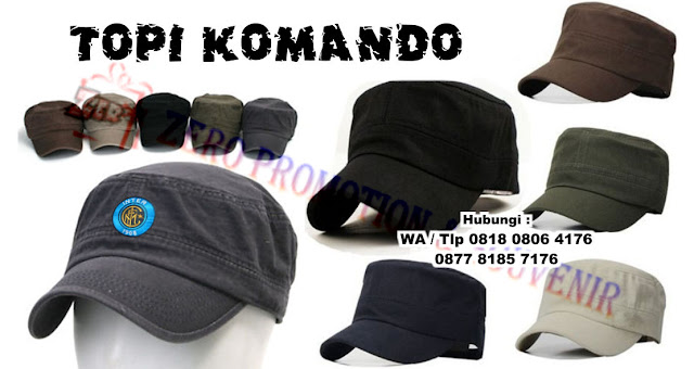 Topi komando (commando hats) model topi kotak