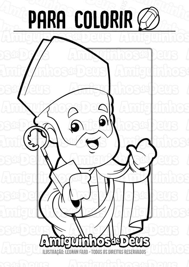 Santo Eusébio de Vercelli desenho para colorir