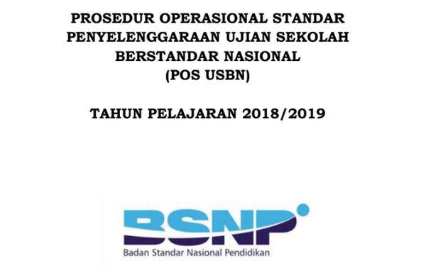 POS USBN Tahun Pelajaran 2018-2019 PDF dari BSNP