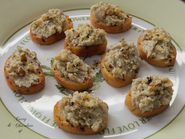 Crema de gorgonzola y nueces - Gorgonzola and walnuts spread