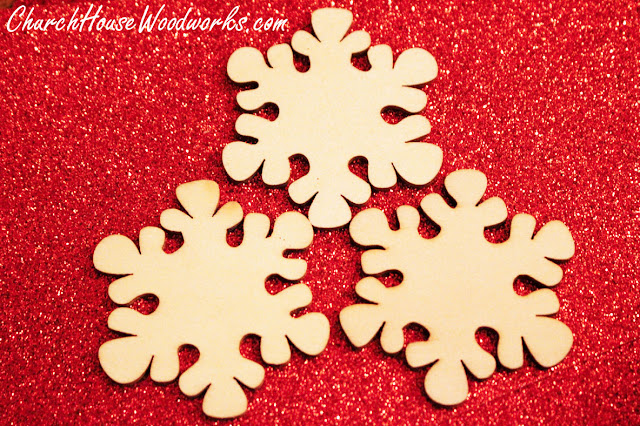 Blank Wooden Snowflake Ornaments For Sale