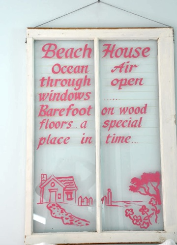 Coastal Wall Decor Ideas with Old Window Frames - Coastal Decor ...