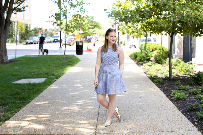 The Gold Flats | Something Good, J.Crew Chevron Striped Dress