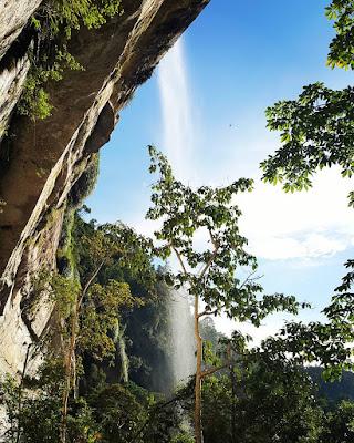 Air terjun Batang Kapas di Lubuk Bigau