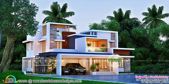 Superb box model contemporary house 3420 sq-ft