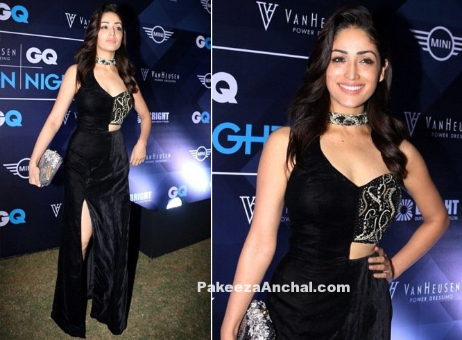 Yami Gautam in Zara Umrigar thigh-high slit Gown