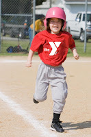 girl playing tball