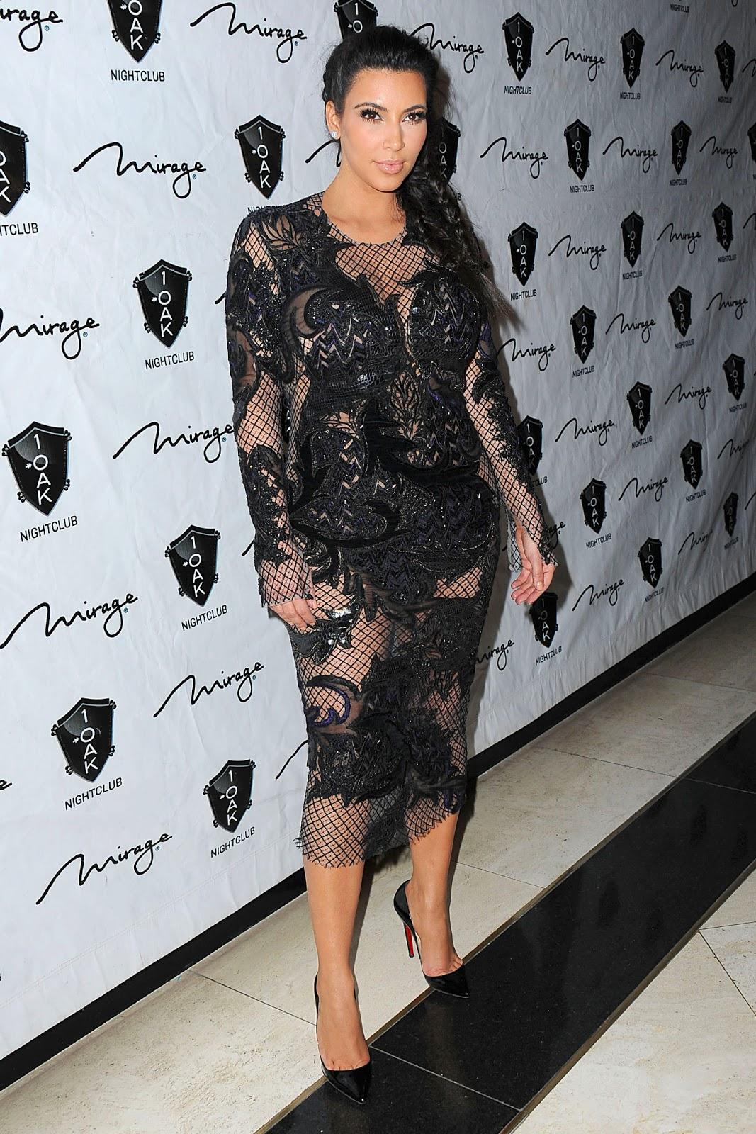 best website 8a969 dc644 News On Style: Chic or Kitsch: l'abito vedo-non vedo di Kim ...