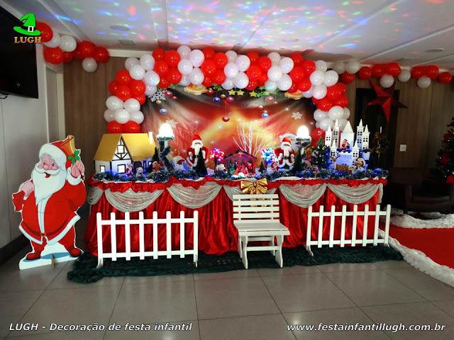 Decoração infantil de Natal - Aniversário - Tradicional luxo com árvore de Natal
