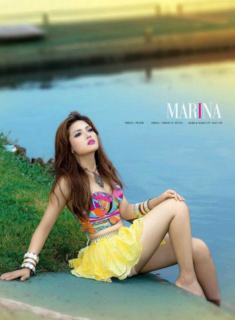 Myanmar Beautiful Girls Myanmar Beautiful Model Girl Marina-1366