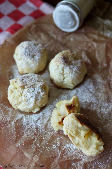 Experimente aus meiner Küche: Apfel-Quark-Knödel