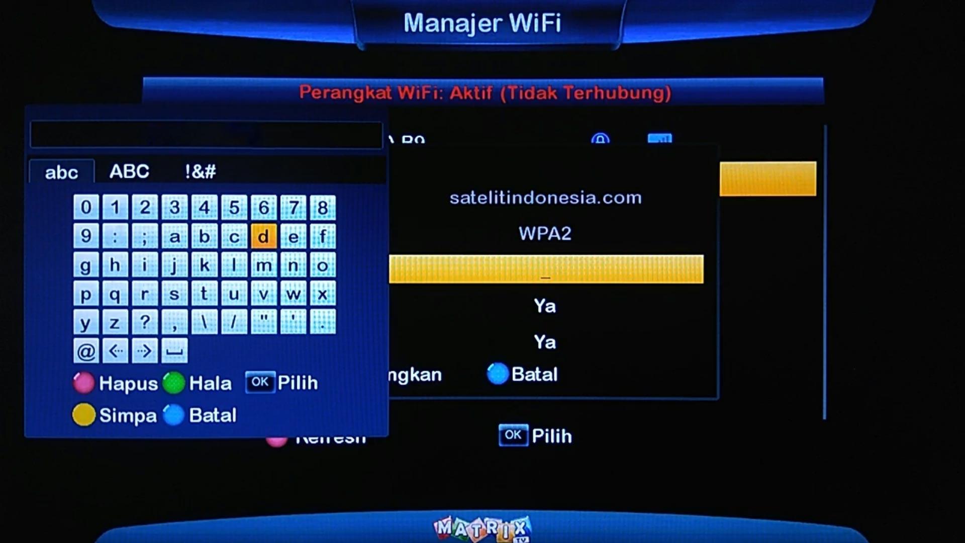 Cara Setting Wifi Matrix Big Burger HD 8MB
