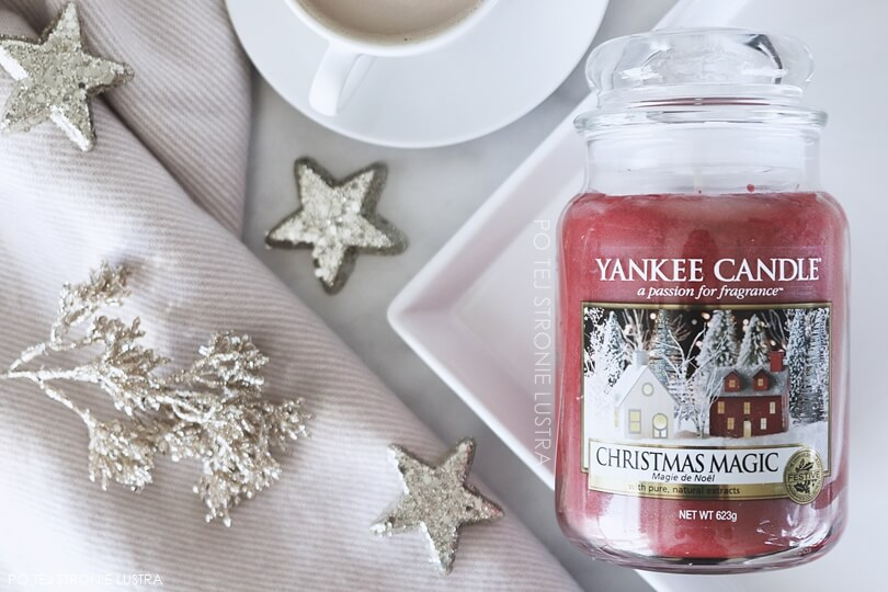 duża świeca christmas magic yankee candle