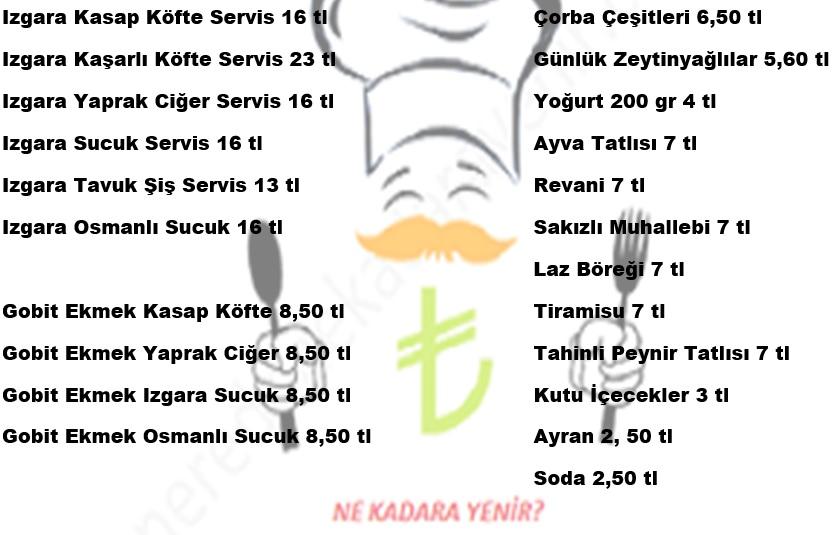 girit borani menü fiyatlar