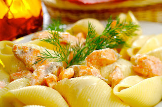 Conchiglie With Salmon Pasta Recipe