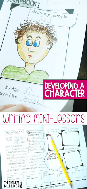 When students write fiction, creating a strong character can be a real challenge. Get lots of ideas, tips, and engaging activities to help students develop fictional characters for narrative writing. (The Thinker Builder)