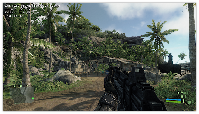 Crysis 1 game Vulkan DXVK Linux