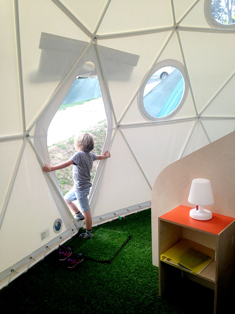 View from inside the dome glamping in the dordogne