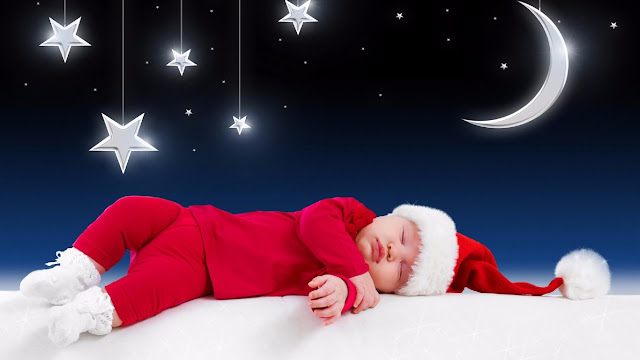 cute baby sleeping funny merry xmas picture