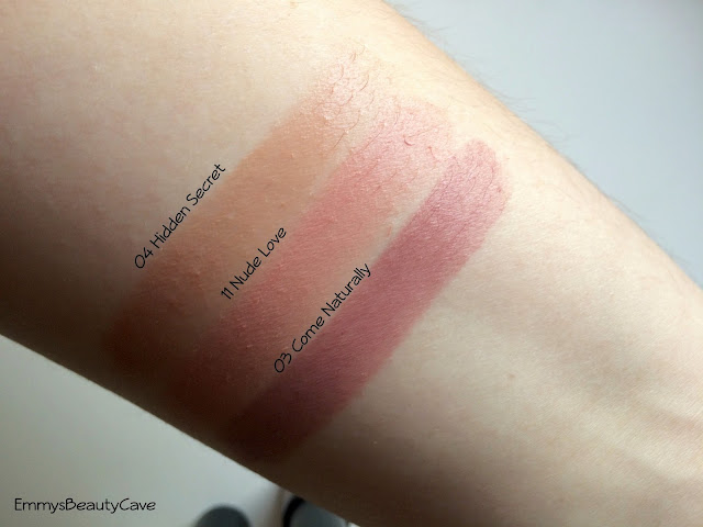 Essence Nude Long Lasting Lipstick Swatches