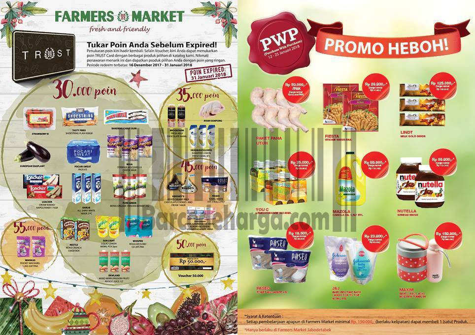Katalog Promo Farmers Market 26 Januari 8 Februari 2018 Barcodeharga Harga Promo Alfamart Indomaret Giant Hypermart Superindo Lottemart Carrefour