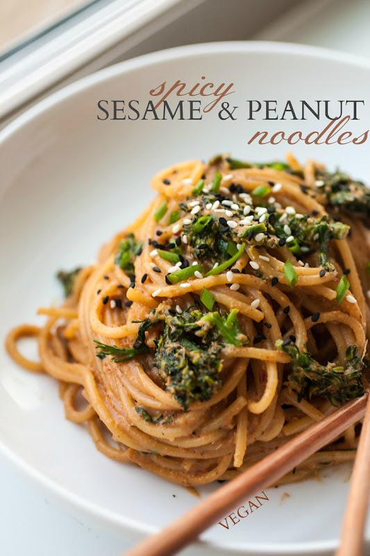 Recipe : Spicy Sesame & Peanut Noodles | My Favorite Things