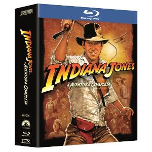 Blu-Ray Coleção Indiana Jones A Aventura Completa 4 Discos