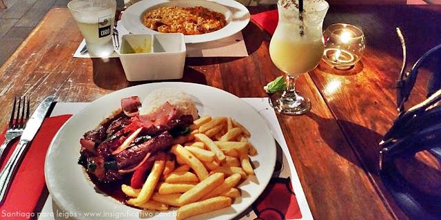 Chile - Santiago - Pátio Bellavista - Tambo - Culinária Peruana