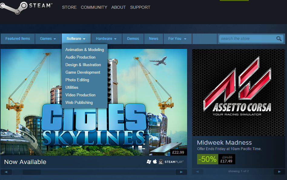 DFGA - Cyan-Co: 21 of 25, Steam softwere, for indi developers?