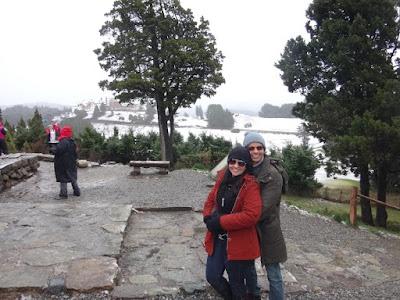 Área externa da Capena San Eduardo em Bariloche