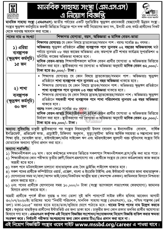এনজিও চাকরির খবর ২০২০ - NGO JOB CIRCULAR 2020 - besorkari chakrir khobor 2020