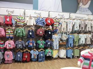 frugi in shop, kiddicare lakeside, organic kids clothes