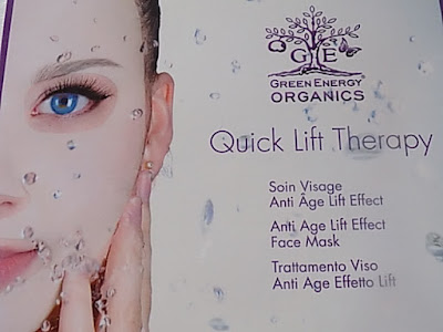 Green energy organic anti age lift face  mask review