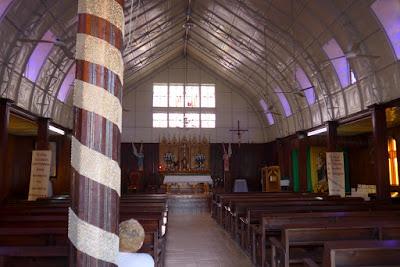 The metallic Iglesia de Santa Barbara in Santa Rosalia