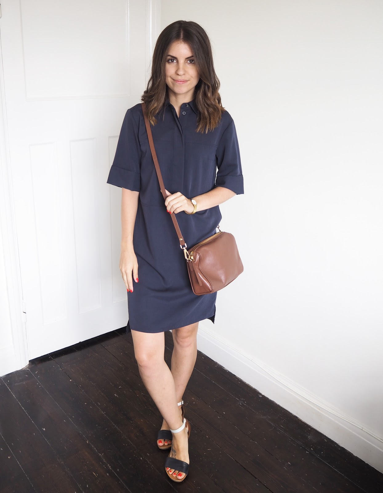 Sweet Monday outfit, Warehouse shirt dress
