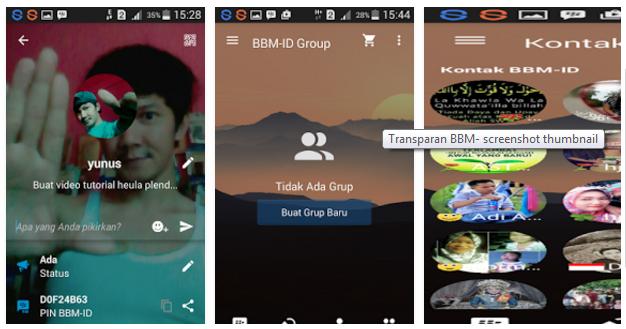 download bbm transparan clone