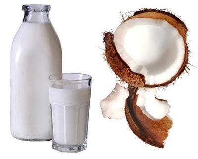 Receita do leite de coco natural
