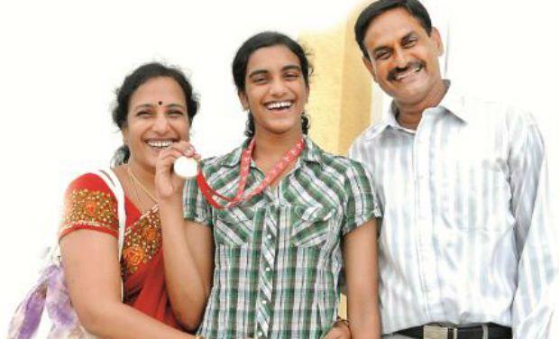 P V Sindhu Family
