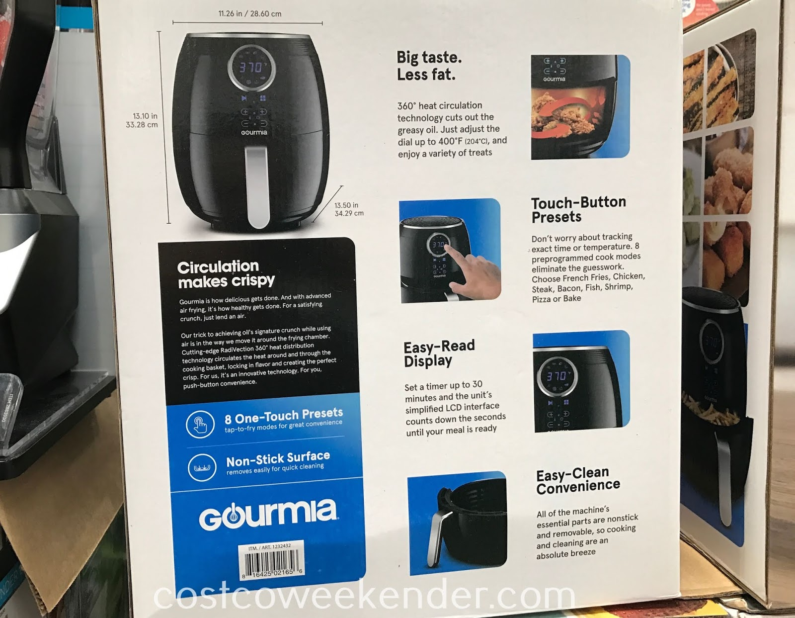 Avoid fried foods but enjoy the same great taste with the Gourmia Digital Air Fryer
