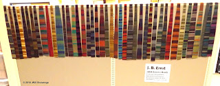 Wall of square-ended ties by J.B. Ernst