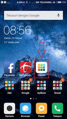 """Setelah install, kemudian buka aplikasi """"Hermit"""""""