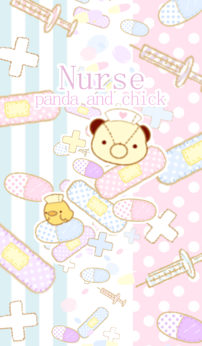 Nurse panda and nurse chick