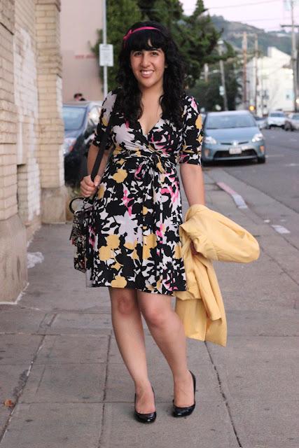 Floral DVF Wrap Dress